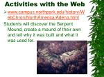 activities with the web7