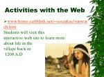 activities with the web8