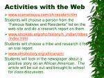 activities with the web9