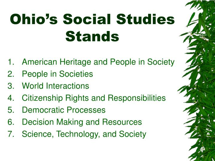 Ohio s social studies stands