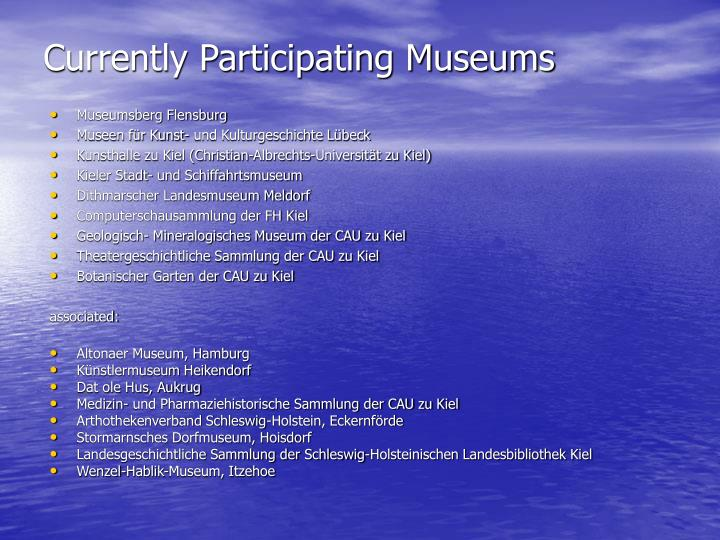 Currently Participating Museums