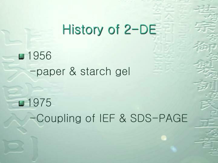History of 2-DE