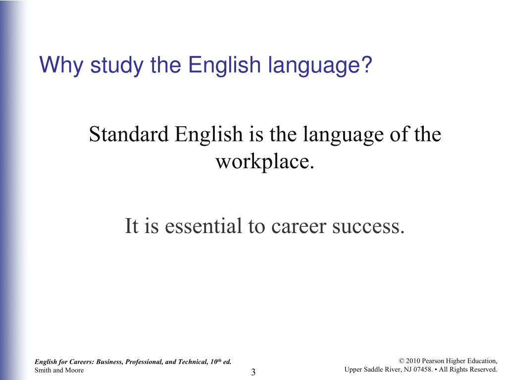 Why study the English language?