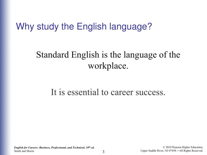 Why study the english language