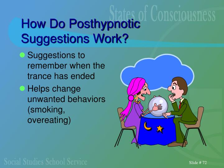 How Do Posthypnotic Suggestions Work?