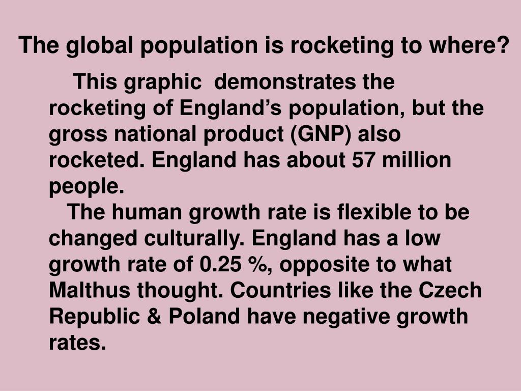 The global population is rocketing to where?