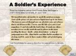 a soldier s experience