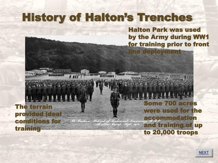 History of halton s trenches