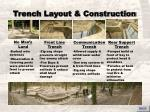 trench layout construction