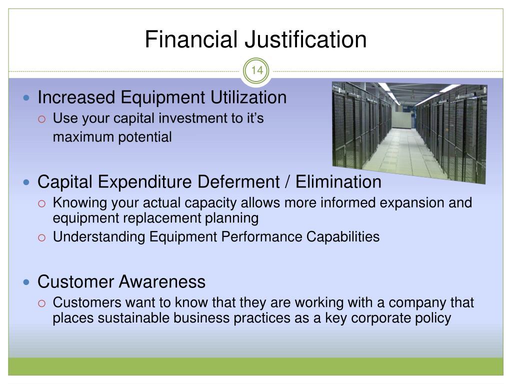 Financial Justification