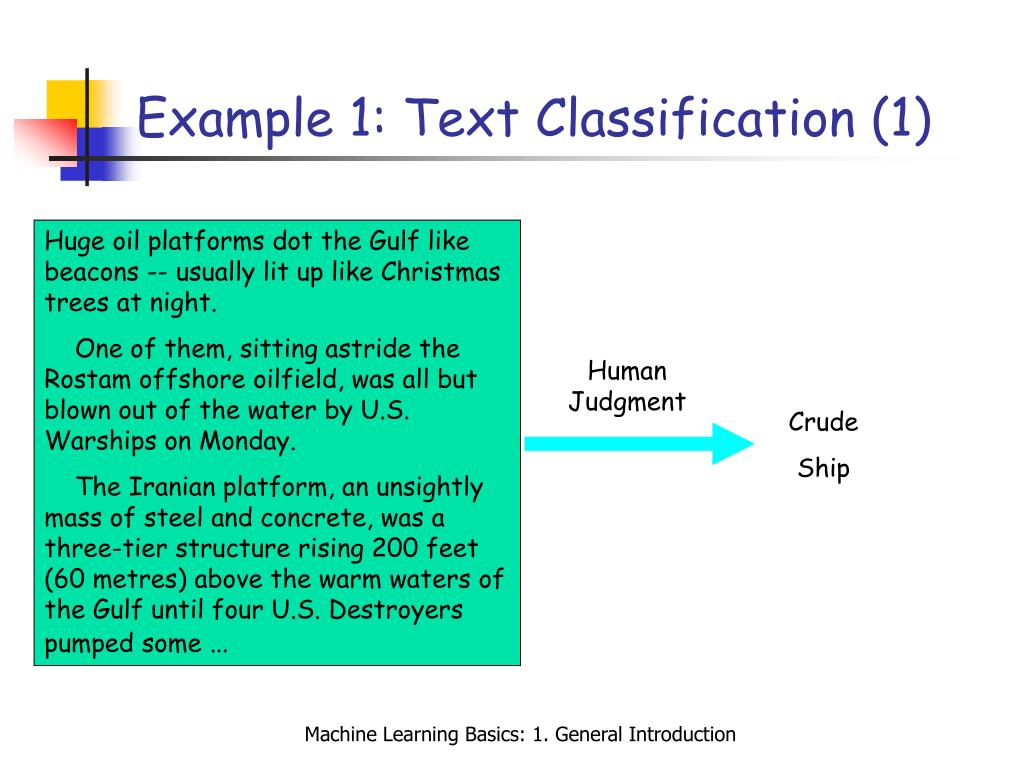 Example 1: Text Classification (1)