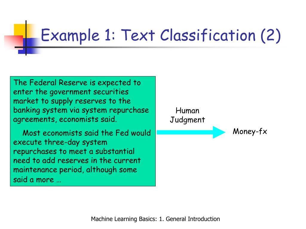 Example 1: Text Classification (2)