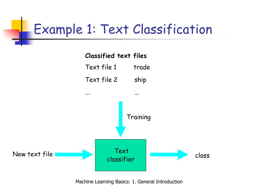 Example 1: Text Classification