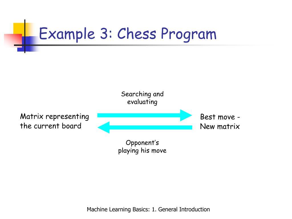 Example 3: Chess Program