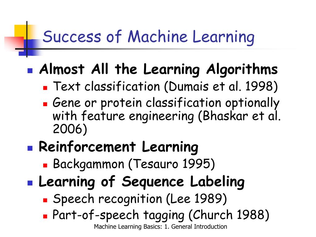 Success of Machine Learning