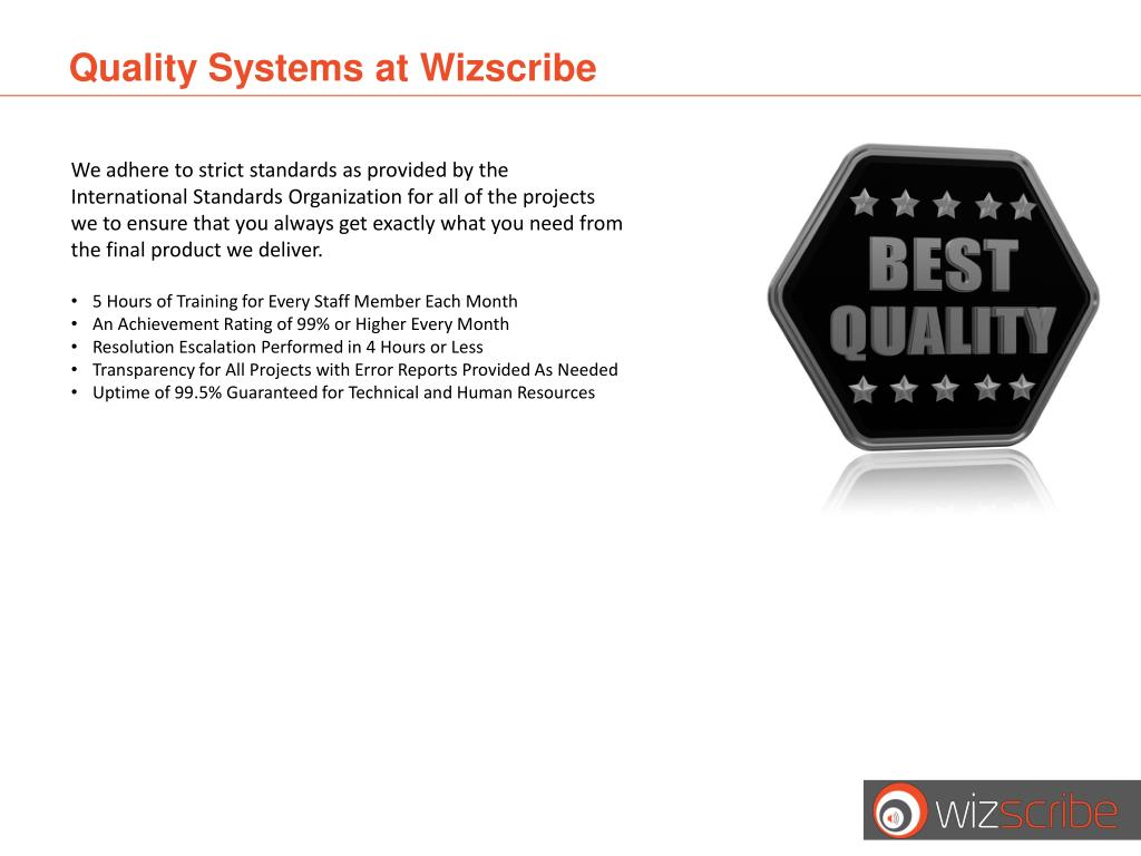 Quality Systems at
