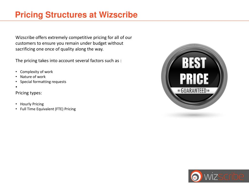 Pricing Structures at