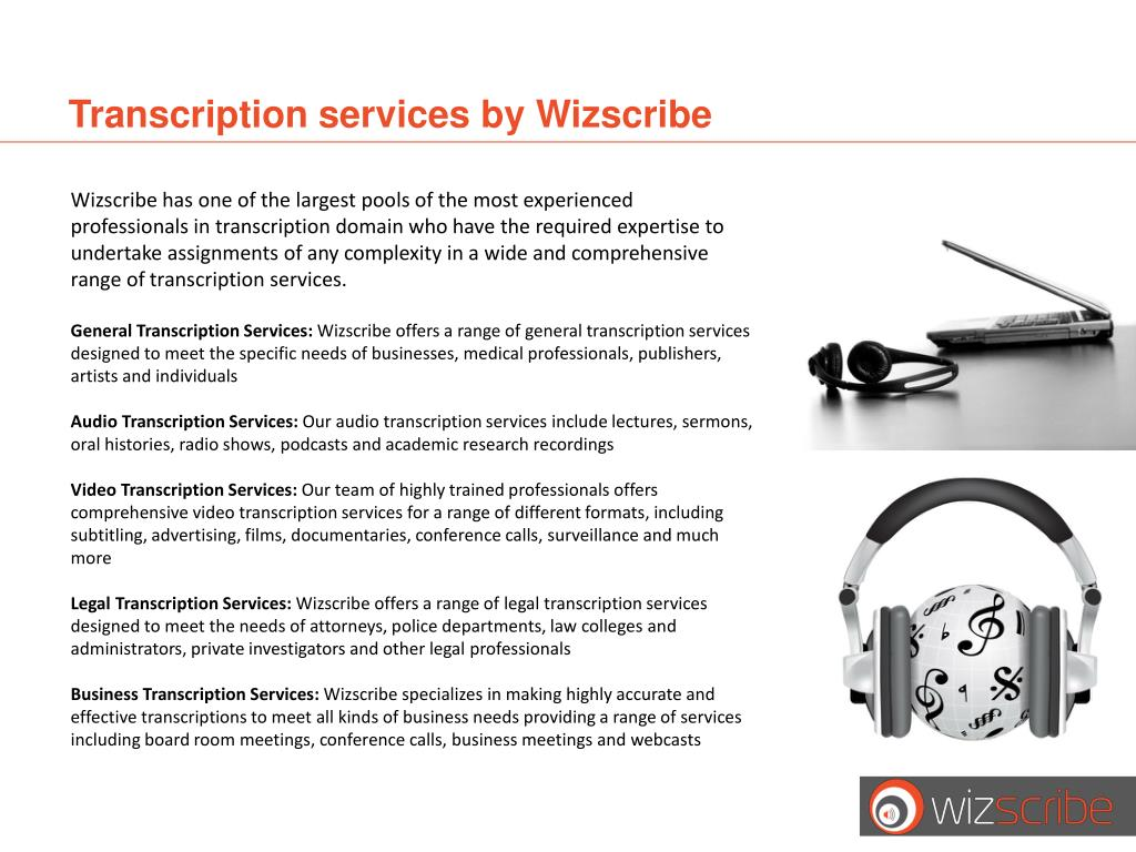 Transcription services by