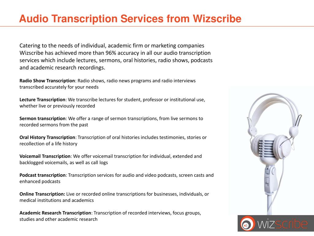Audio Transcription Services from