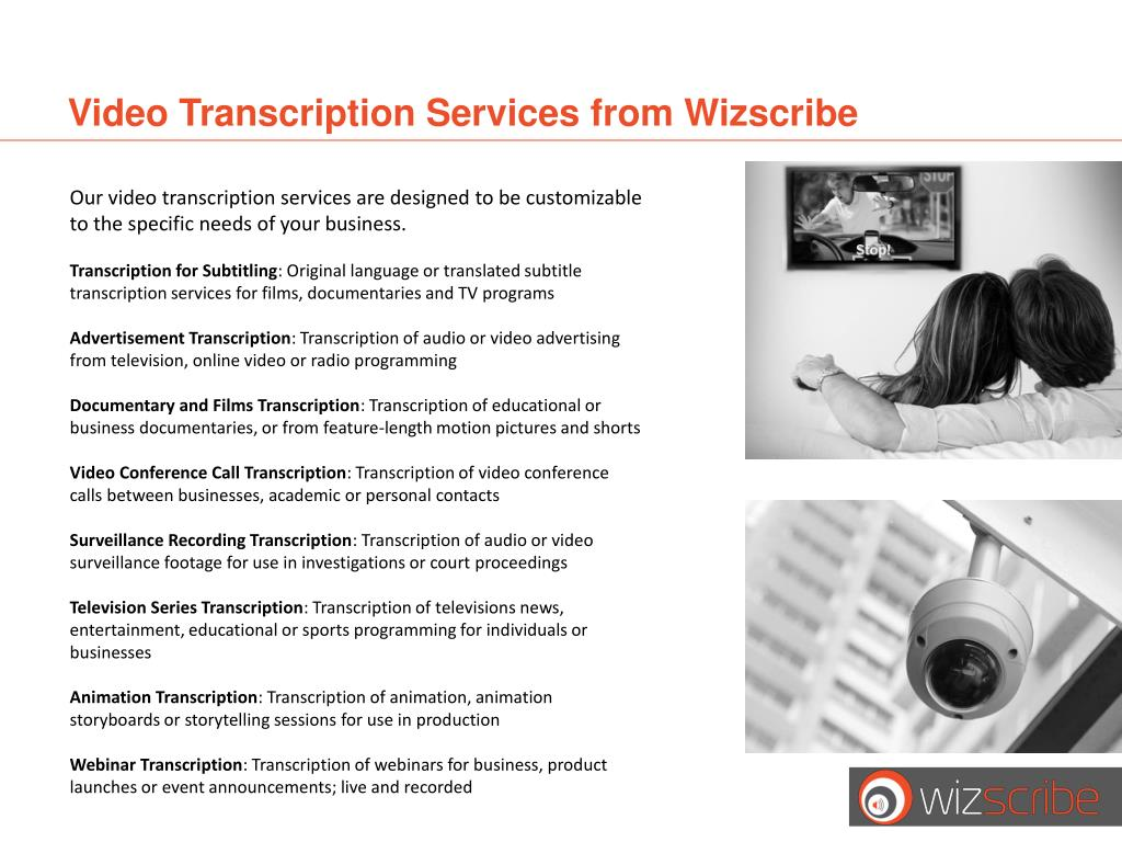Video Transcription Services from