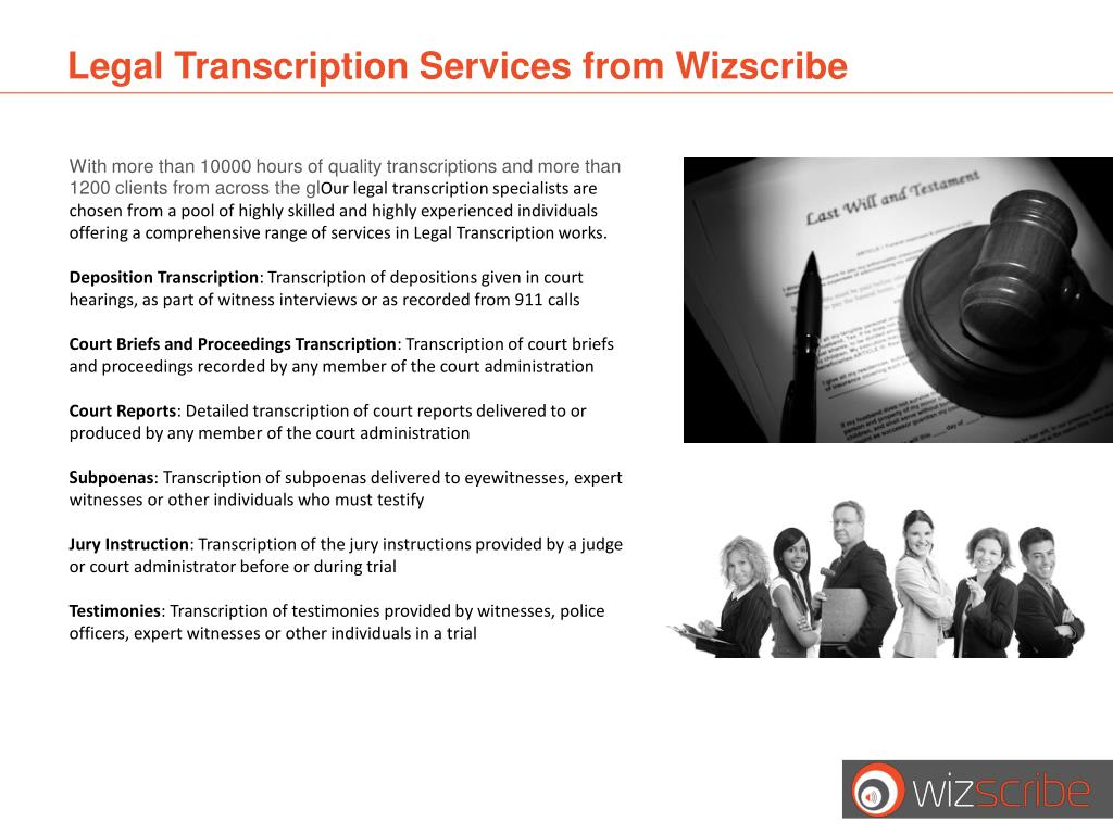 Legal Transcription Services from