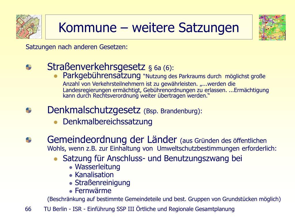 Kommune – weitere Satzungen