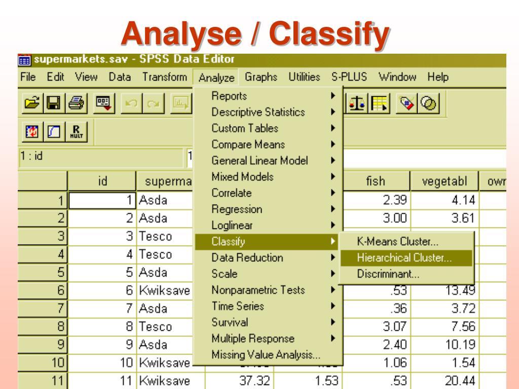 Analyse / Classify