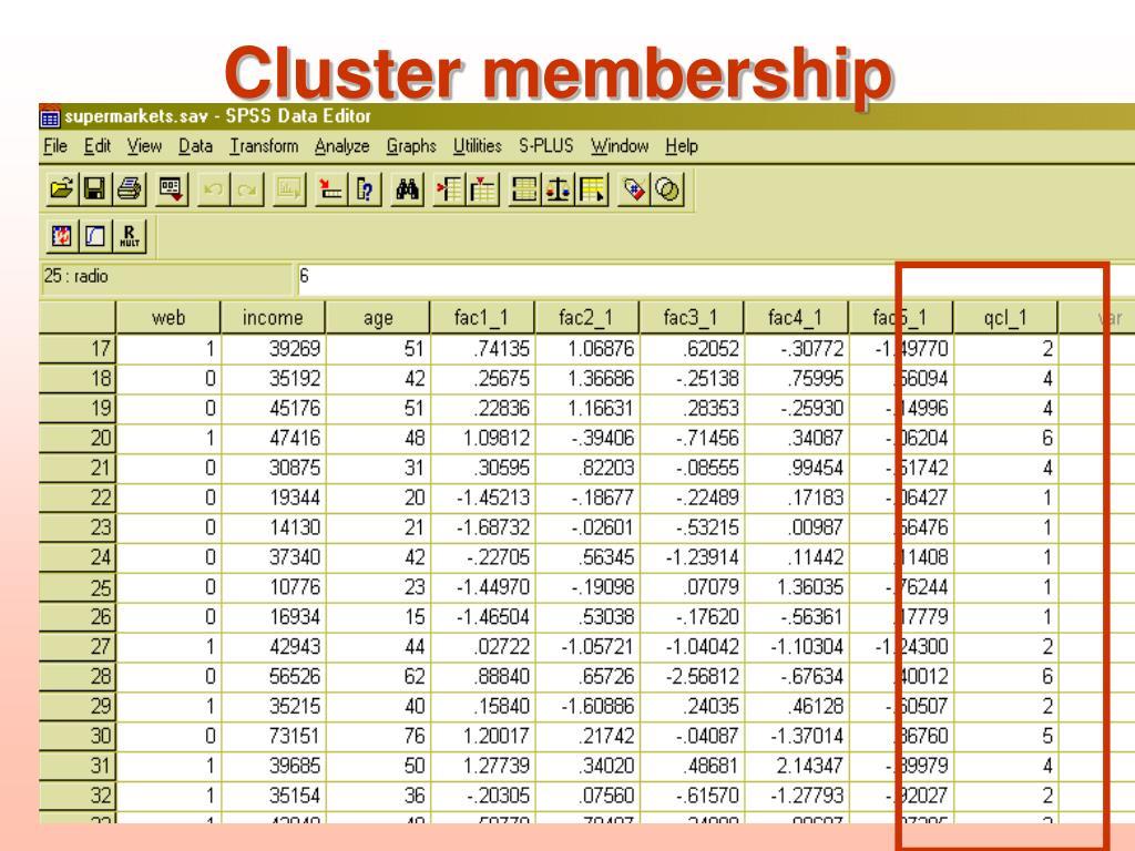 Cluster membership