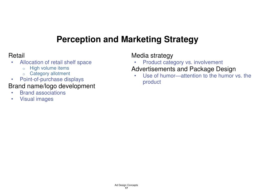 Perception and Marketing Strategy