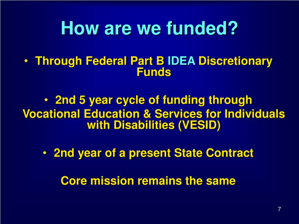 How are we funded?