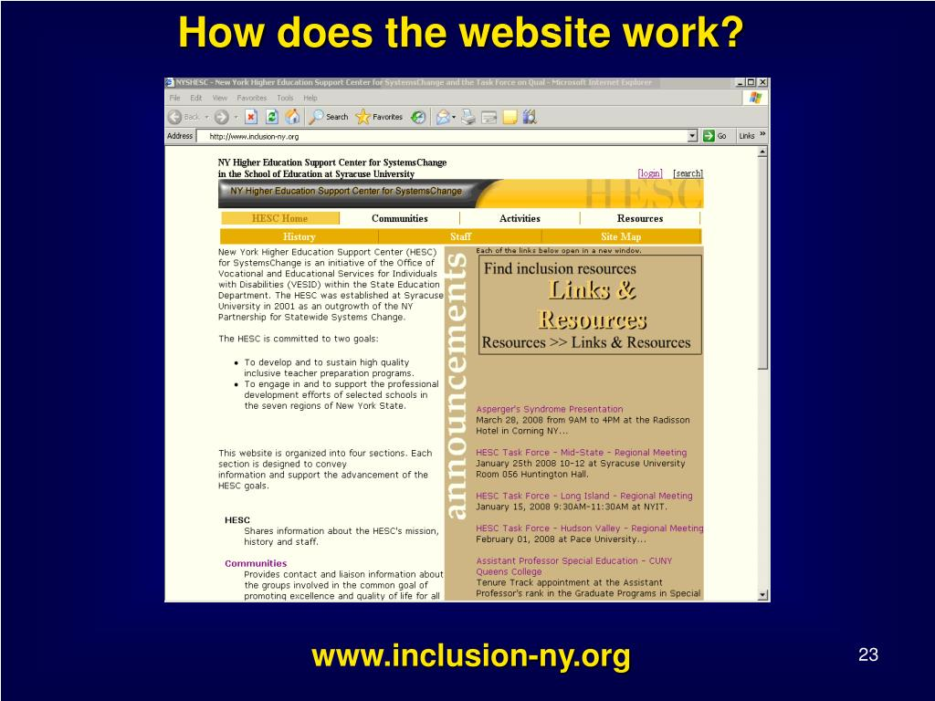 How does the website work?