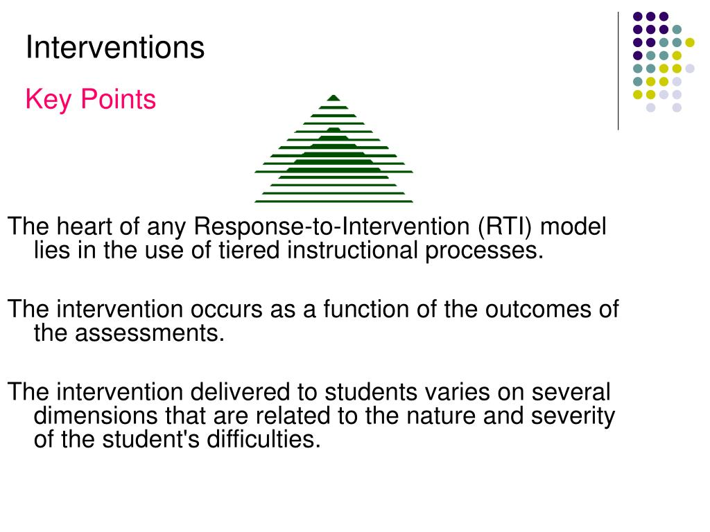 The heart of any Response-to-Intervention (RTI) model lies in the use of tiered instructional processes.