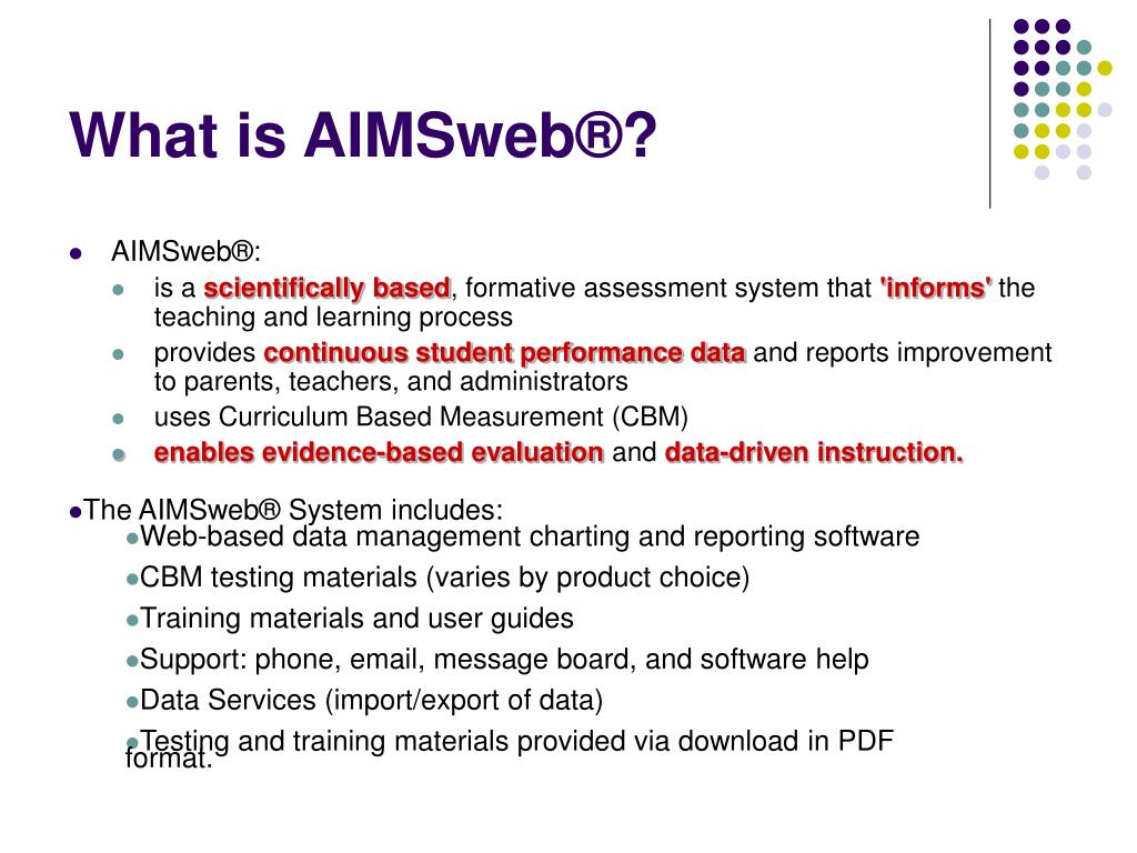 What is AIMSweb®?