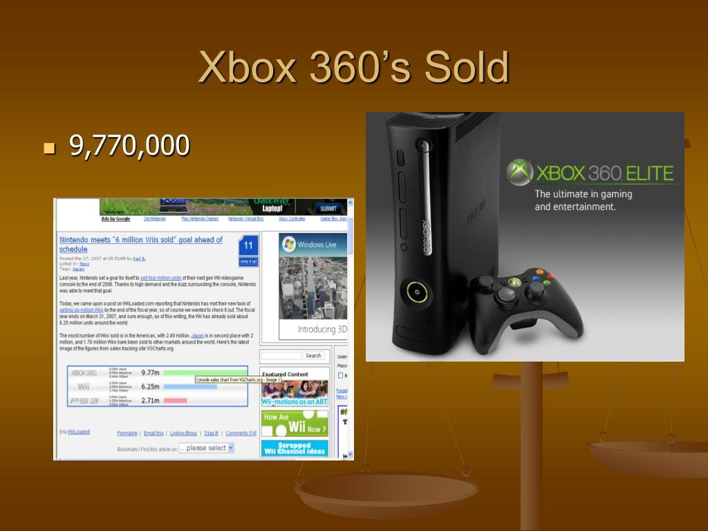 Xbox 360's Sold