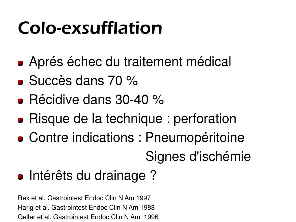 Colo-exsufflation