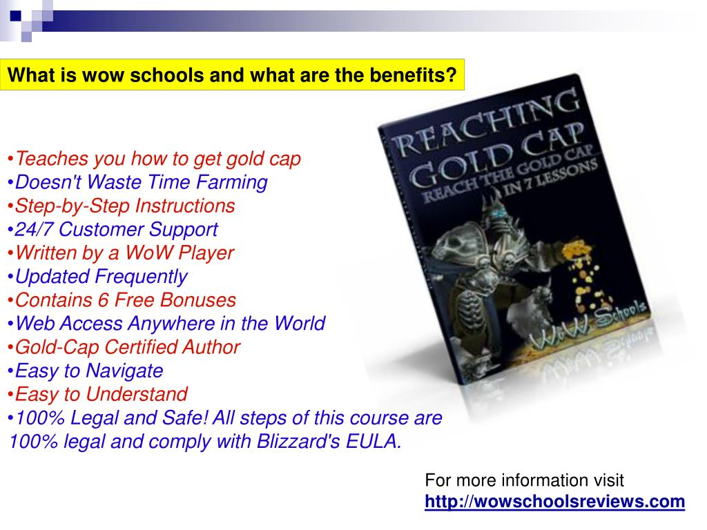 What is wow schools and what are the benefits?
