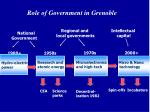 role of government in grenoble