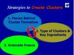 strategies to create clusters