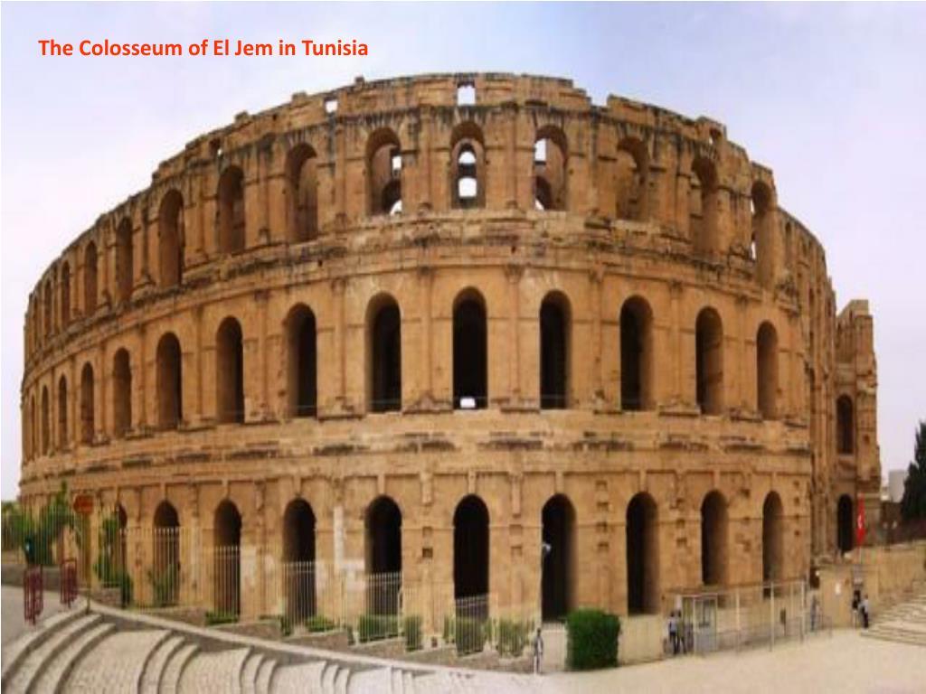 The Colosseum of El Jem in Tunisia
