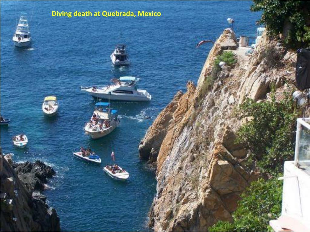 Diving death at Quebrada, Mexico