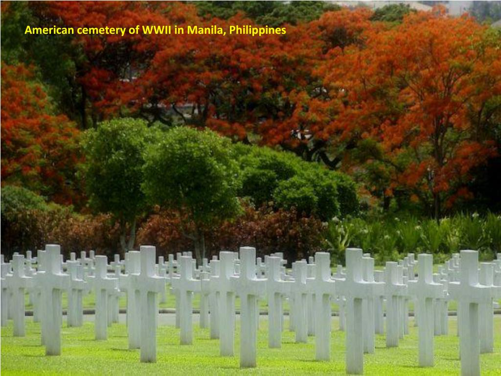 American cemetery of WWII in Manila, Philippines