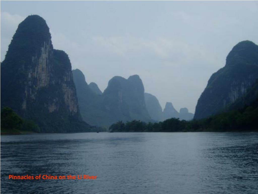 Pinnacles of China on the Li River