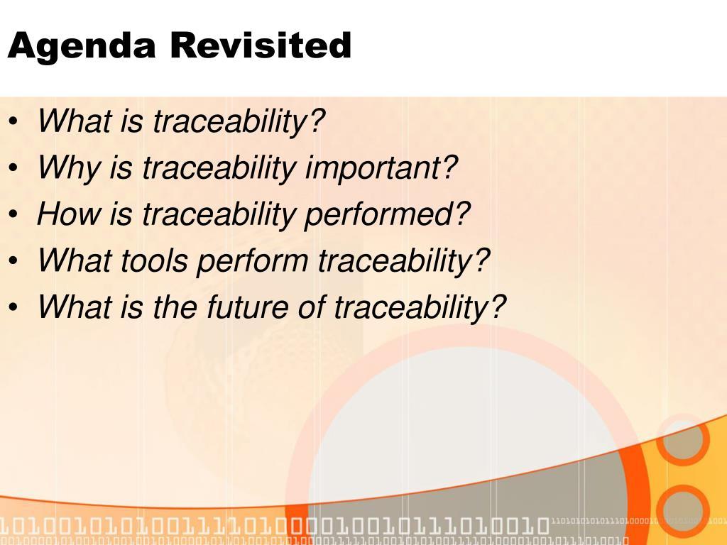 Agenda Revisited