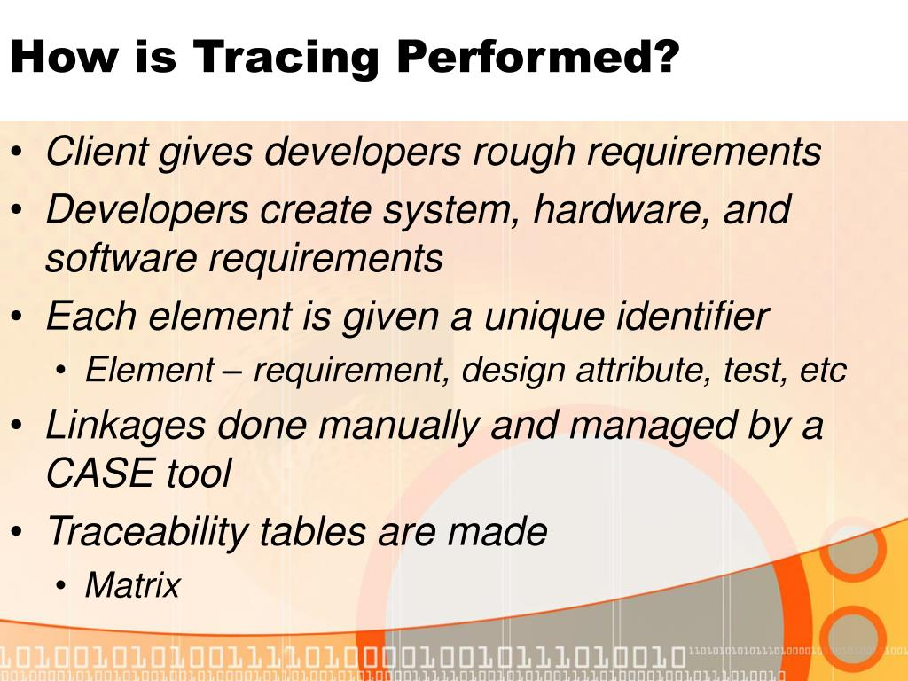 How is Tracing Performed?
