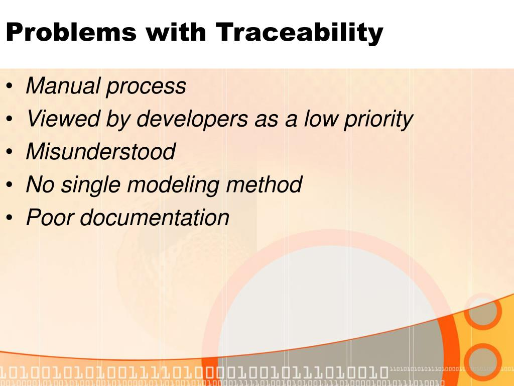Problems with Traceability