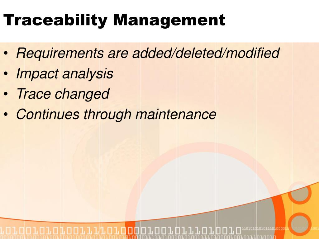 Traceability Management