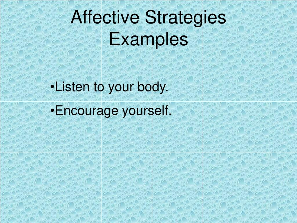 Affective Strategies