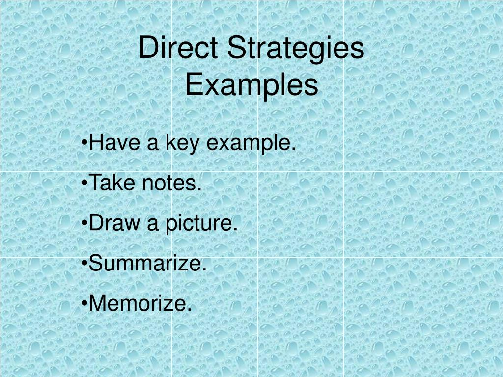 Direct Strategies