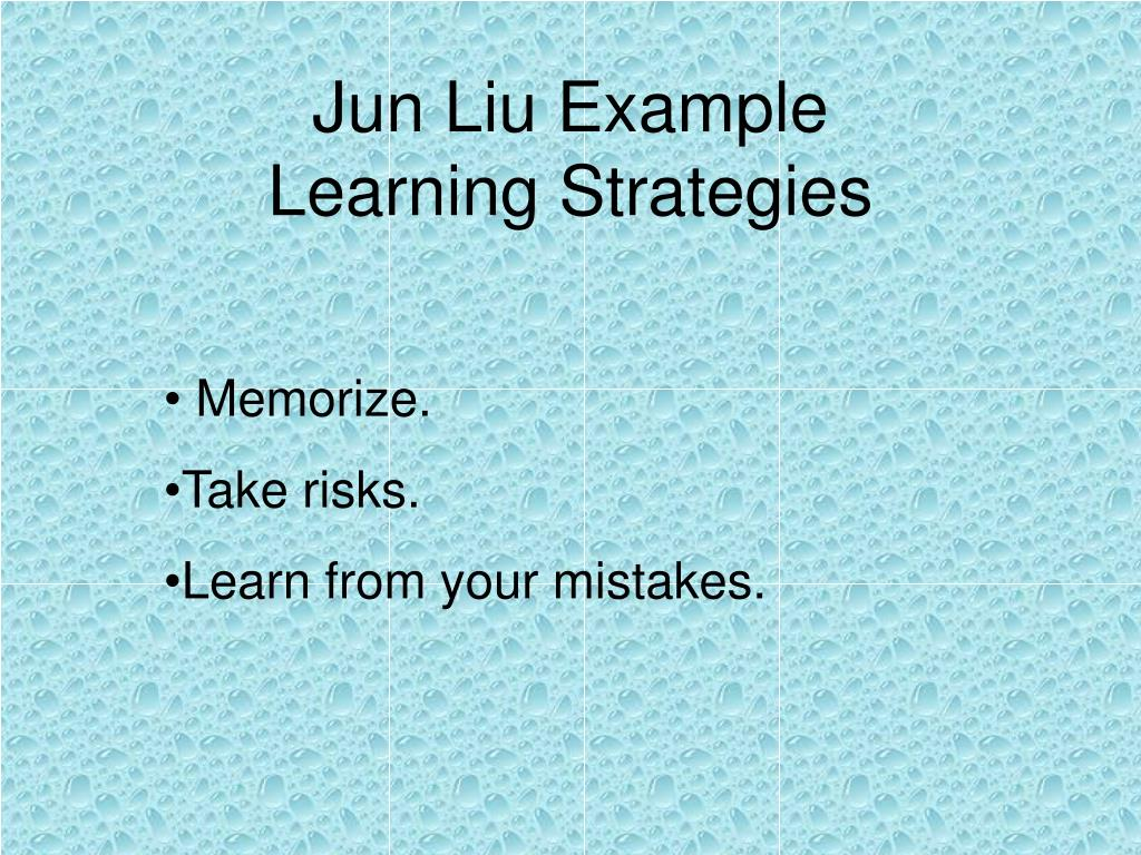 Jun Liu Example