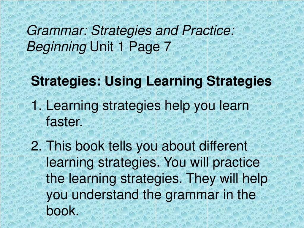 Grammar: Strategies and Practice: Beginning